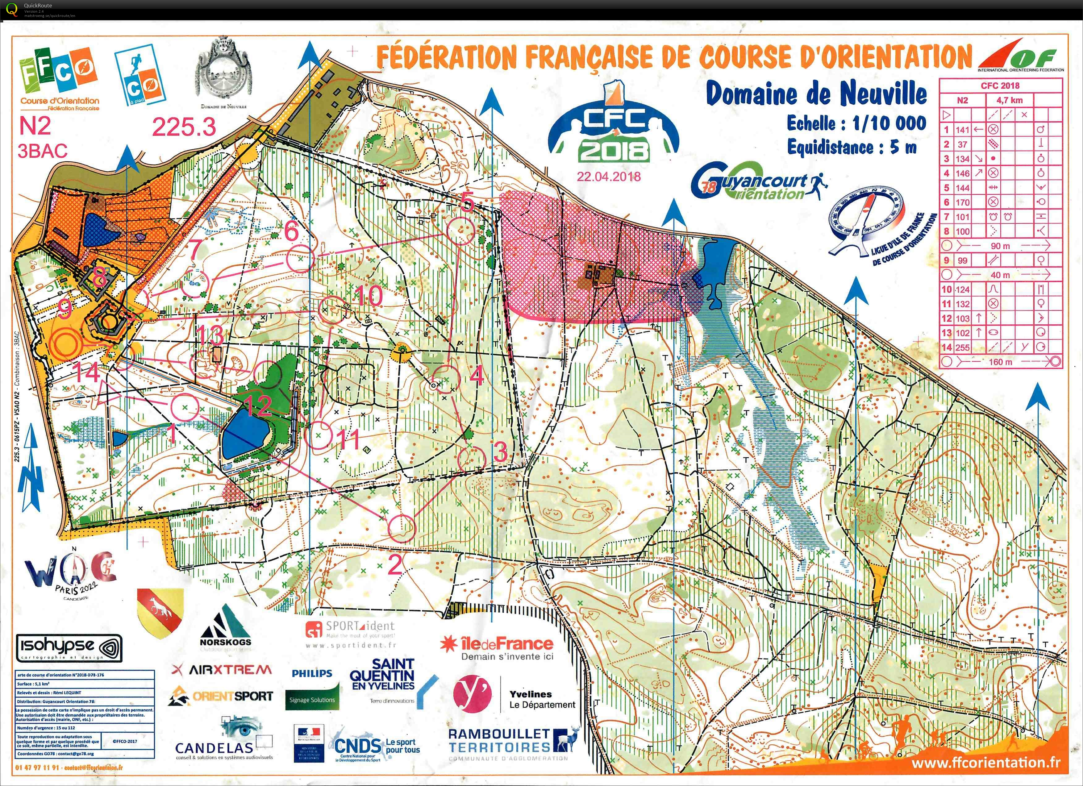 French champs - club relay - Nationale 2 - leg 3 (22/04/2018)