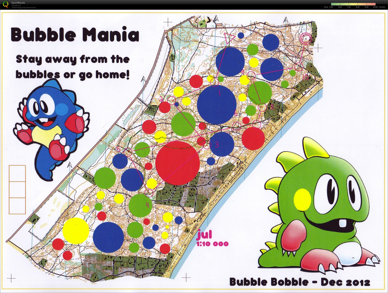 Orienteering bubble Mania